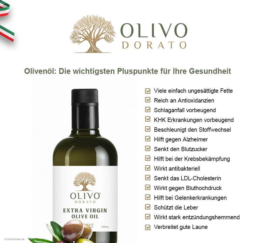 Olivenöl so gut für unsere Gesundheit