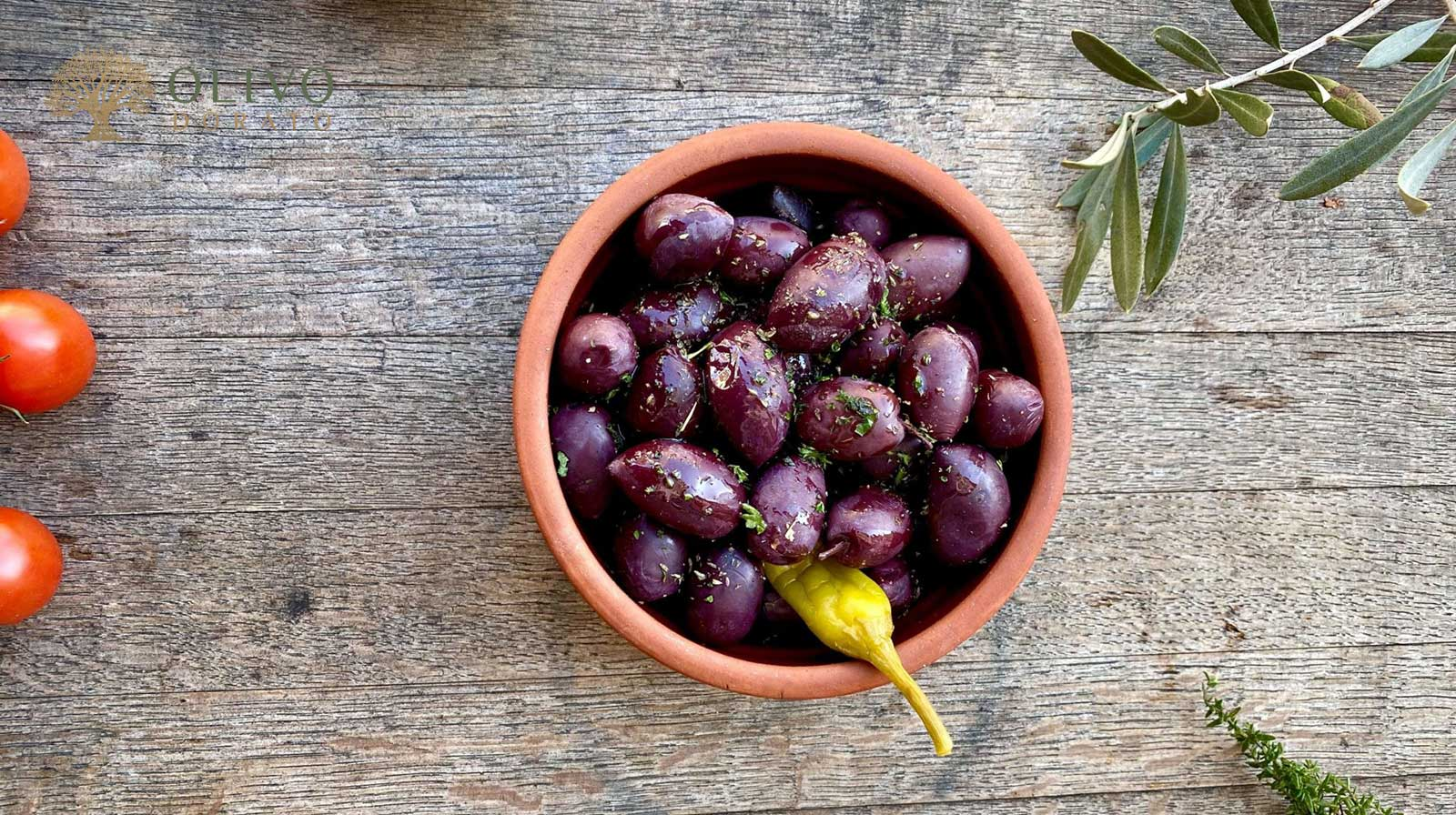 griechische Kalamata Oliven